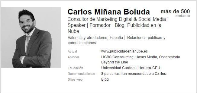 perfil de linkedIn Espana empleo
