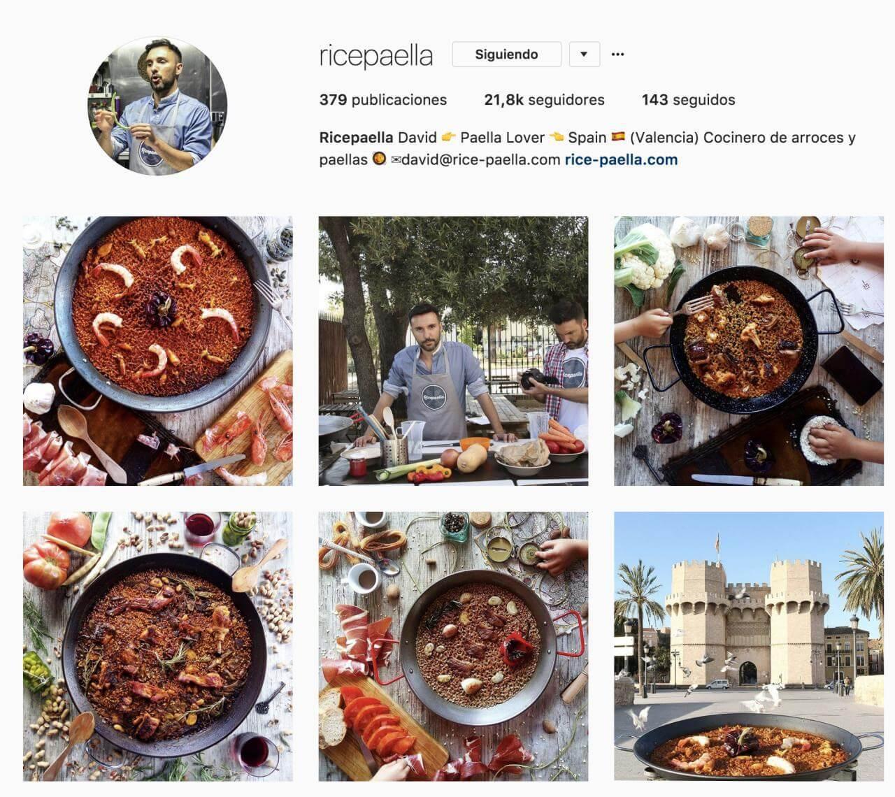 tácticas para instagram ricepaella